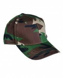 Dziecięca czapka z daszkiem woodland mil-tec 12036020